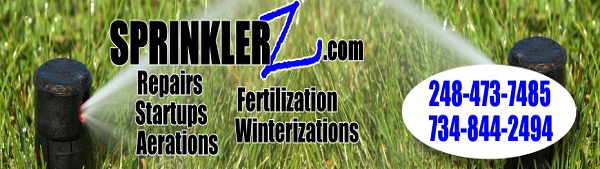 lawn sprinkler winterization service michigan